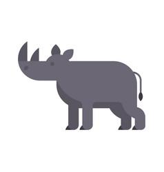 flat style of rhino vector image vector image