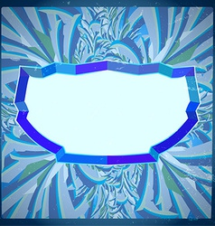 Frame with frosty pattern vector image vector image