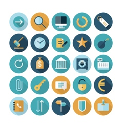 icons flat line business concept vector image