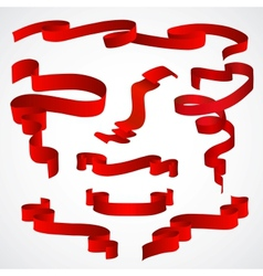 set of red tapes vector image