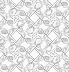 Slim gray hatched twisted shapes in turn vector image vector image