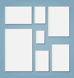 template book set vector image vector image