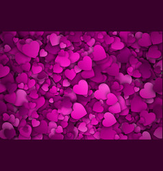 abstract 3d hearts background vector image