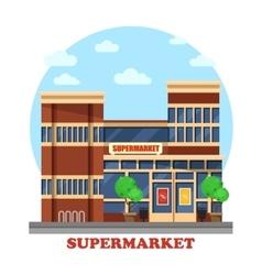 Around the clock supermarket outdoor exterior vector image vector image