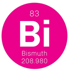Bismuth chemical element vector image