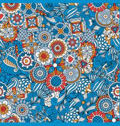 blue floral decorative background vector image vector image