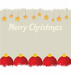 Christmas balls card template vector image vector image