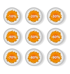 eggs discounts vector image vector image