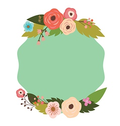 Elegant frame with flowers vector image vector image