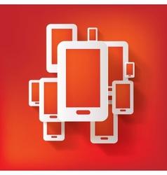 Phone web icon vector image vector image