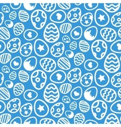 Seamless pattern of Easter eggs icon holiday vector image vector image