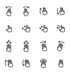 Set of icons and logos hands fingers vector image vector image