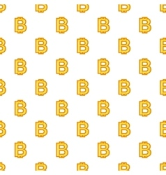 Bitcoin currency symbol pattern cartoon style vector image