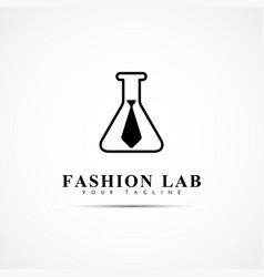 fashion lab logo vector image