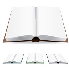 open book white pages vector image vector image