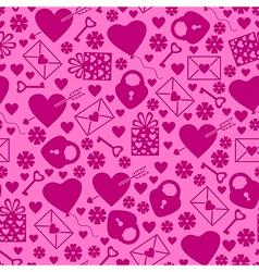 val pattern magenta vector image vector image