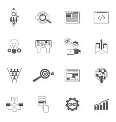 Web Icons Black Set vector image vector image
