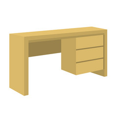 A mall table for writingwooden table on legs with vector