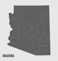 Arizona counties map vector