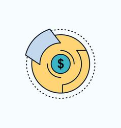 balance budget diagram financial graph flat icon vector image