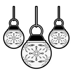 balls ornament christmas decoration icon image vector image