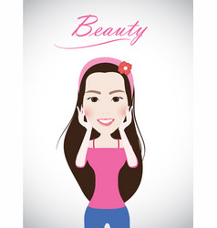beautiful lady smile cute vector image