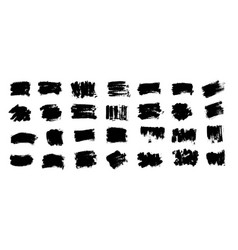 black paint ink brush stroke brush vector image