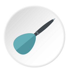 Blue dart arrow icon circle vector