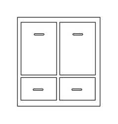 Cabinet drawers symbol office furniture vector