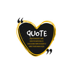 chat bubble logo quote vector image