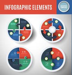 circle infographics set 1 vector image