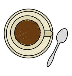 Coffee cup with spoon vector
