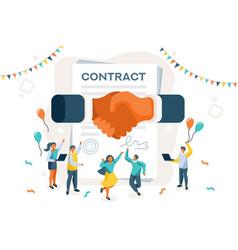 Company achievement concept vector