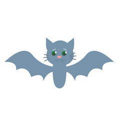 cute little bat vector image