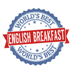 English breakfast sign or stamp vector