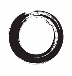 enso zen circle ink brush vector image