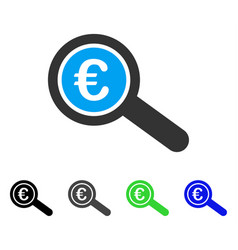 euro financial audit flat icon vector image