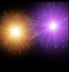 festive colorful fireworks background vector image