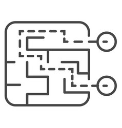 find route solution icon outline style vector image