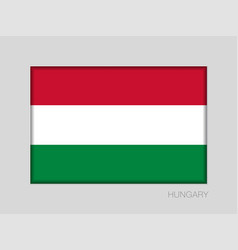 Flag of hungary national ensign aspect ratio 2 to vector