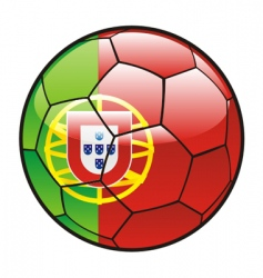 flag of Portugal on soccer ball vector image