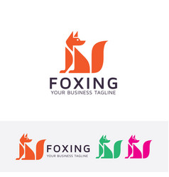 foxing logo design vector image