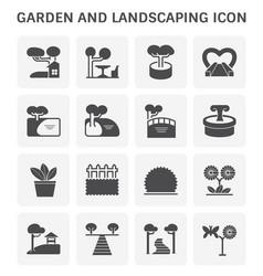 garden landscaping icon vector image