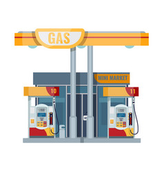 gas or petrol station gasoline oil fuel diesel vector image