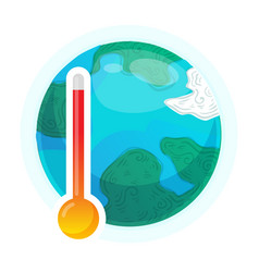 global warming concept earth weather vector image
