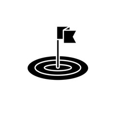 goals black icon sign on isolated vector image