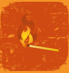 Grunge match poster vector
