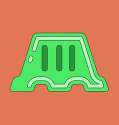 Icon in flat design fence vector