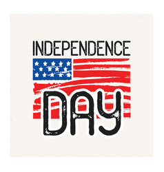 independence day inscription handwritten with vector image