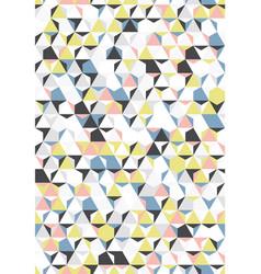 irregular colorful abstract geometric vector image
